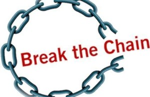 break the chain logo