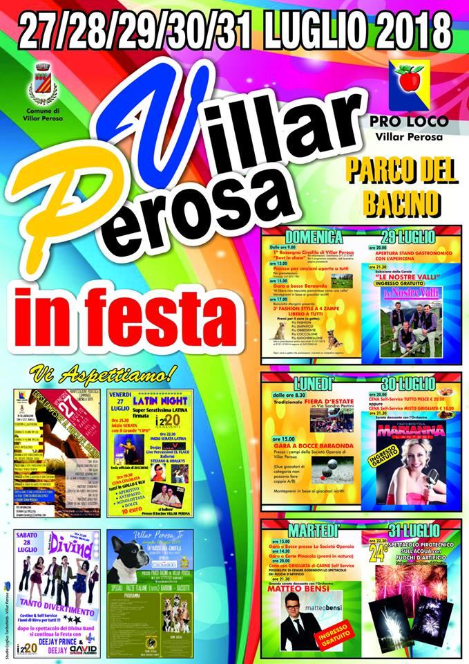 Orchestra Matteo Bensi Calendario.Pineroloplay It Villar Perosa In Festa 2018 Tutto Il